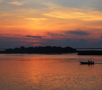 Sunset on the Apalachicola River in Florida