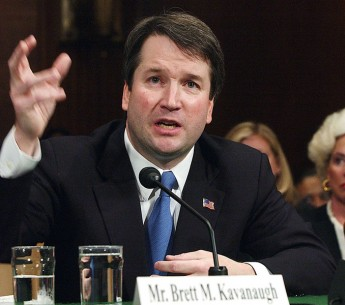 Brett Kavanaugh appears before the Senate Judiciary Committee, April 26, 2004.