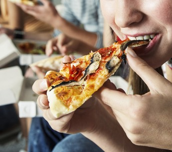 One profit-lovers pizza, please, hold the calorie count.