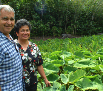 Water rights heroes John and Rose Marie Duey at home in 'Īao Valley.