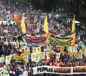 More than a hundred thousand people joined the Climate March in New York City.