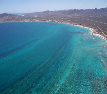 An aerial view of Cabo Pulmo.