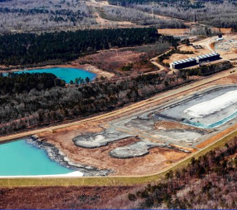 These are the 1985 and 1978 coal ash ponds next to the retired Cape Fear coal plant near Moncure, NC.