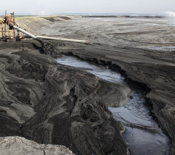 Coal ash industrial waste