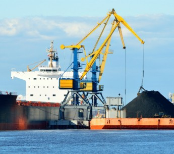 A coal export ship.
