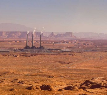 Navajo Generating Station in Page, AZ. (Ecoflight)