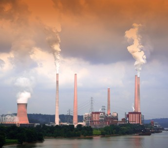 A coal plant on the Ohio River near Cincinnati Ohio USA