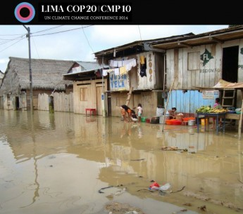Floods, like this one in Peru, cause devastating human impacts.