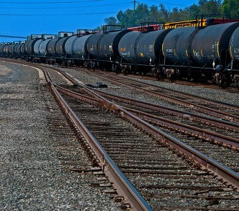 Oil train in California