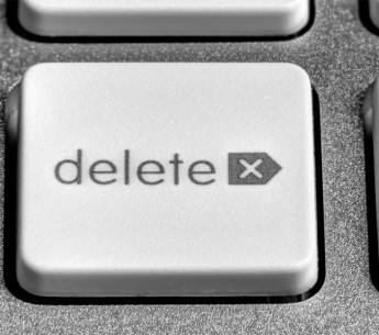 The delete key.