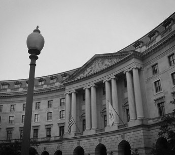 The U.S. EPA's flag flies outside the Federal Triangle complex in Washington, D.C.