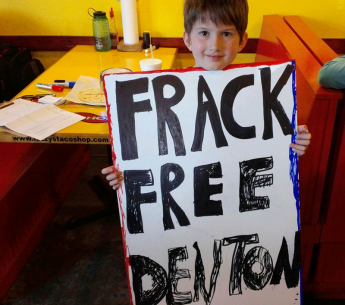 A young fracktivist in Denton, TX.
