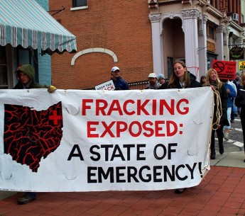 Fracking protest Ohio