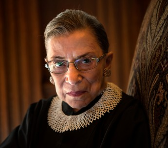 Supreme Court Justice Ruth Bader Ginsburg, shown here at the Court in 2013, advocated for gender equality throughout her career.