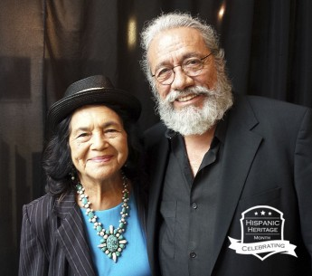 Dolores Huerta and Edward James Olmos