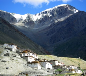 Kumik is a high altitude village located in India's northern Ladakh region. High above the village this melting glacier provides the people who live here with their only water source.