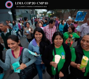 On the eve of the first day of COP20, the UN climate talks in Lima, a Vigil for the Climate was held near the Pentagonito where the UN talks are to be held.