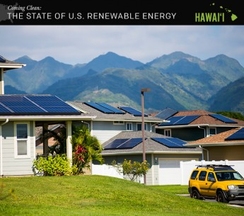 Solar panels on homes at Salt Lake in Oahu, Hawaiʻi.
