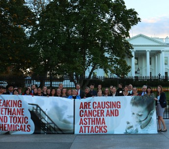 Methane: in November 2015, 35 people from 12 different states came to Washington, D.C. with one message: clean up the oil and gas industry's air pollution.