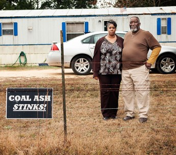 William Gibbs and his wife live near the massive coal ash dump in Uniontown, AL.