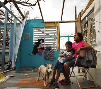 Heydee Perez and her son, Yenel Calera, have not received any aid one week after Hurricane Maria.