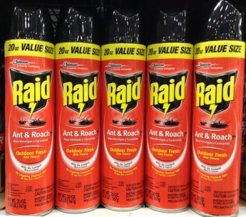 Raid is a popular pesticide that is widely distributed throughout the U.S.