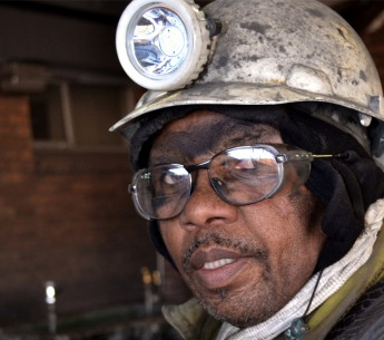 Portrait of a coal miner