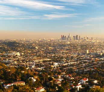 A smoggy day in LA.