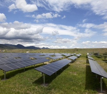 A solar farm in Colorado, a state with one of the most ambitious renewable energy standards in the nation.