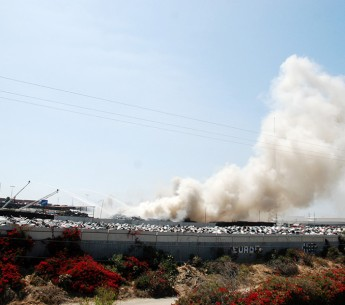 The 2010 explosion and fire at the 'Pick Your Part' junkyard in Wilmington, CA took more than 30 hours to extinguish, releasing particulate matter, dioxins and heavy metals across neighboring communities.