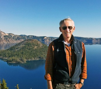 Buck Parker at Crater Lake in southern Oregon.