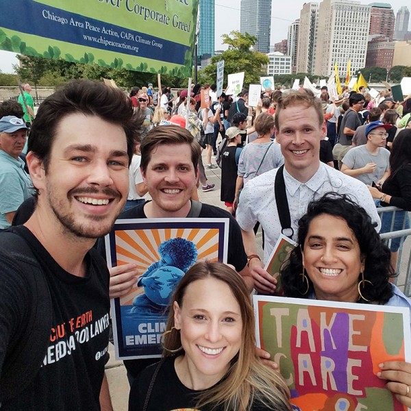 The Chicago office joins the Global Climate Strikers.