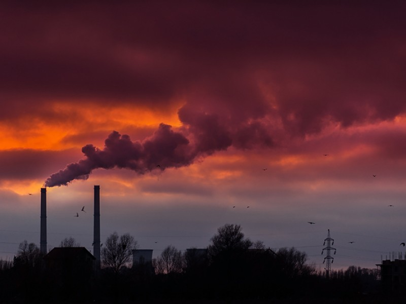 Smoke from a coal powered plant.