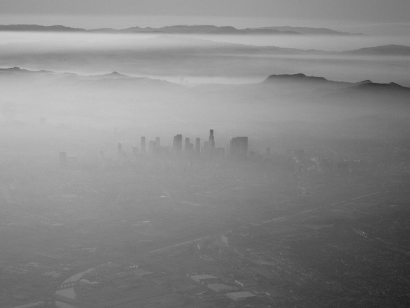 Smog over Los Angeles.