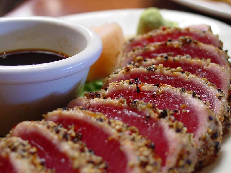 Ahi tuna tends to have high levels of mercury.