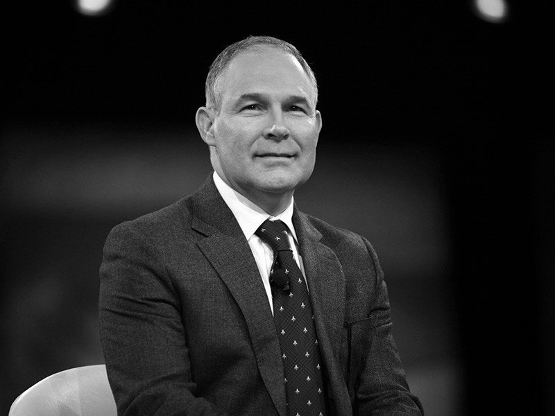 Oklahoma Attorney General Scott Pruitt of Oklahoma speaks at the 2016 Conservative Political Action Conference in National Harbor, Maryland.