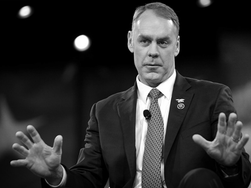 U.S. Congressman Ryan Zinke of Montana speaking at the 2016 Conservative Political Action Conference in National Harbor, Maryland. March 3, 2016.