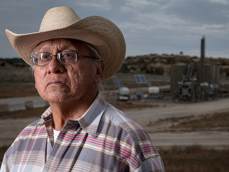 Navajo Community leader Daniel Tso has watched as oil and gas operations have encroached more and more on his community's tribal lands.