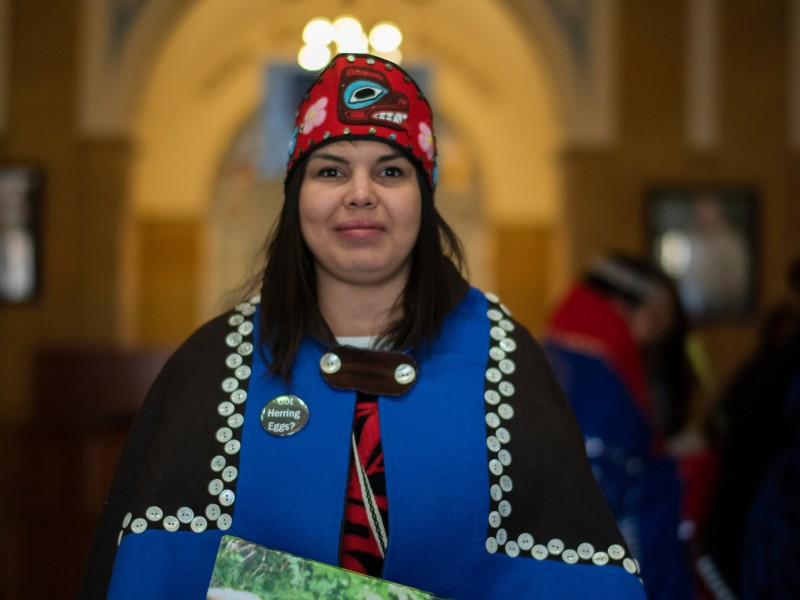 Adrien Nichol Lee, keeper of cultural Tlingit education and president of the Alaska Native Sisterhood Camp 12, is traveling to D.C. on behalf of the WECAN Indigenous Women's Tongass Delegation.