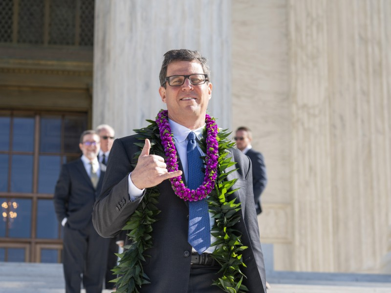 Earthjustice attorney David Henkin went to the Supreme Court to argue Hawaiʻi Wildlife Fund v. County of Maui.