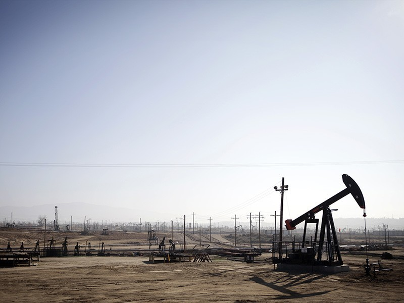 Oil drilling operations in Kern County, Calif.