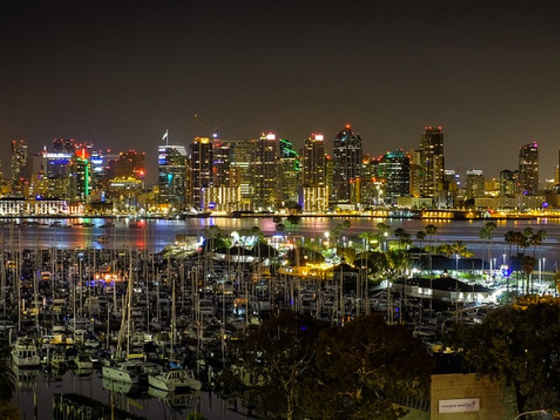 The skyline of San Diego, where the local utility wants to raise most residential customers' minimum bills to $38.40 each month.