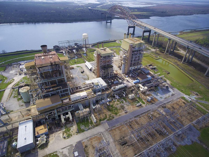 The Michoud gas-fired power plant, located in the New Orleans East neighborhood of New Orleans, Louisiana. The newly proposed gas-fired power plant is proposed for the same area.