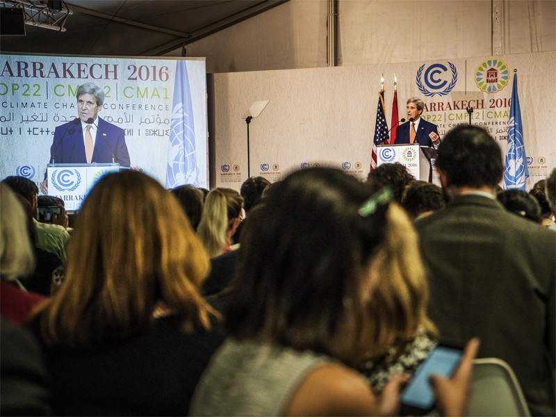 U.S. Secretary of State John Kerry delivers remarks at Cop22