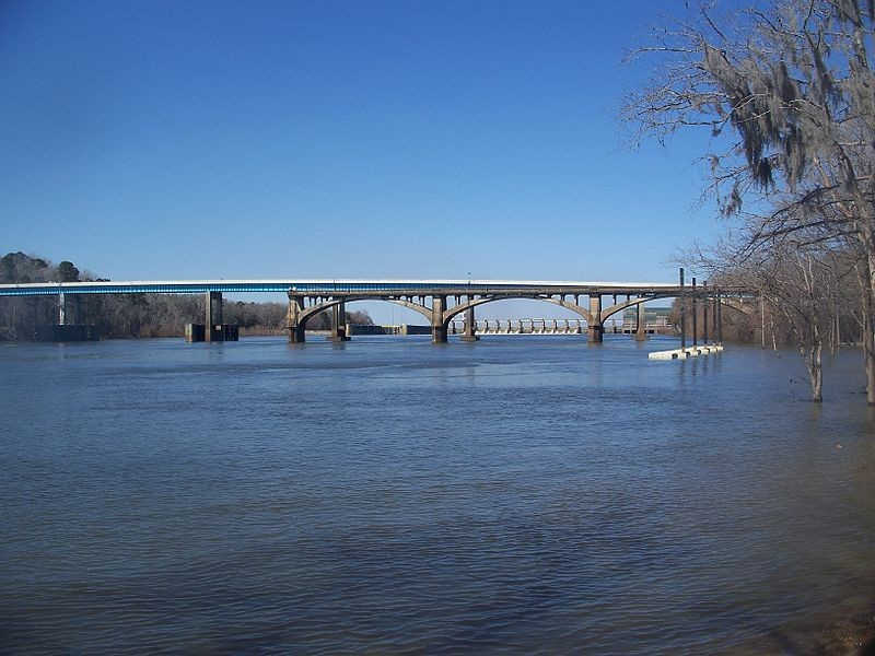 Victory Bridge over the floodplain of the Apalachicola River in the Florida Panhandle.