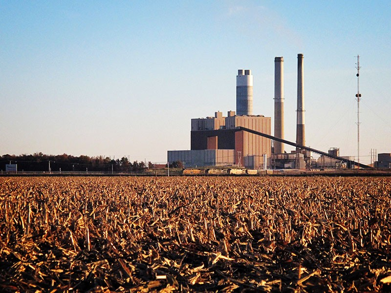 A coal fired power plant outside of the southern Illinois town of Newton