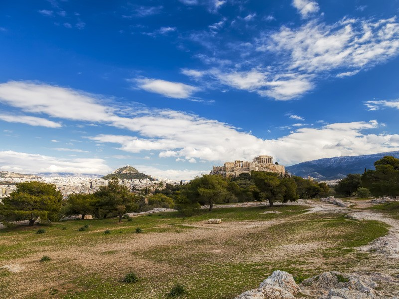 Dry conditions in Athens, Greece, and a rapidly growing population have strained water resources.