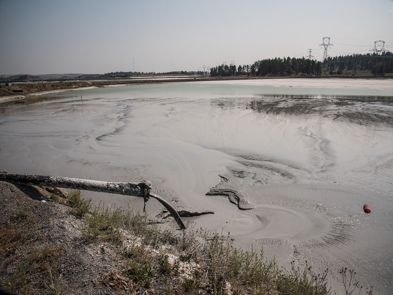 Coal ash sludge pond