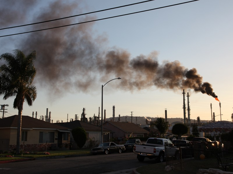 The ConocoPhillips oil refinery in Wilmington, California.