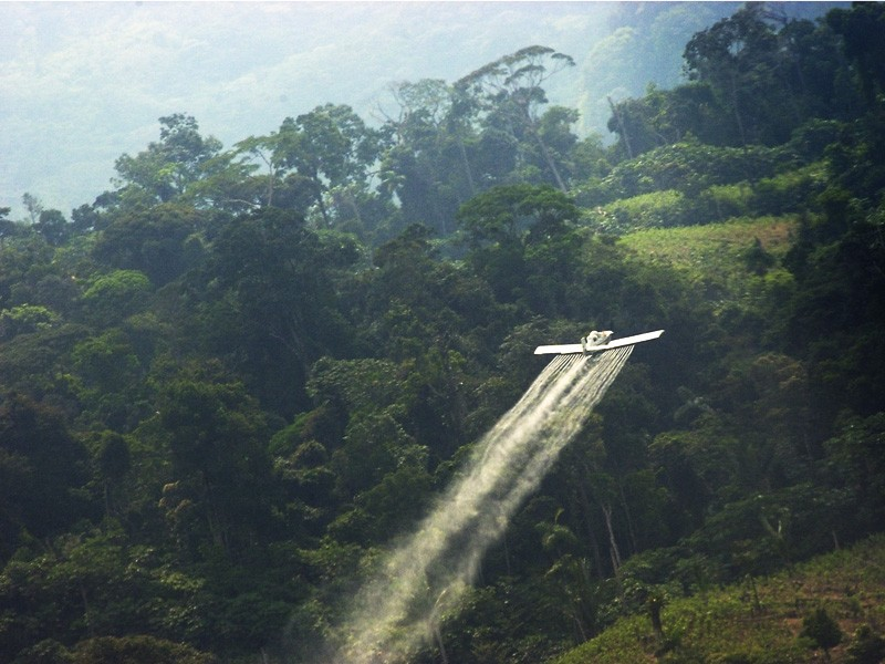 Aerial spraying in Colombia